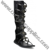 ROMAN-15 Black Faux Leather
